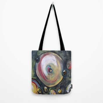 Blue Trials Tote Bag by Lisa Bridenbaker