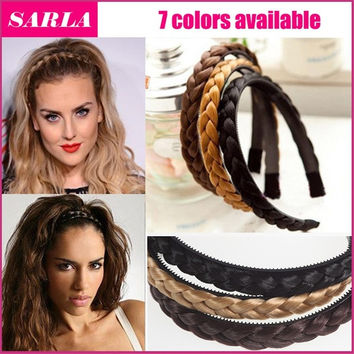 SARLA 1PC Headband For Women Wedding Hairbands Plaited Braided Hair Accessories = 5658522241