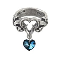 Alchemy Gothic The Dogaressa's Last Love Blue Heart Ring