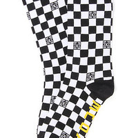 KR3W The Checker Socks in Black White : Karmaloop.com - Global Concrete Culture