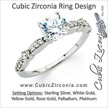 Cubic Zirconia Engagement Ring- The Andi