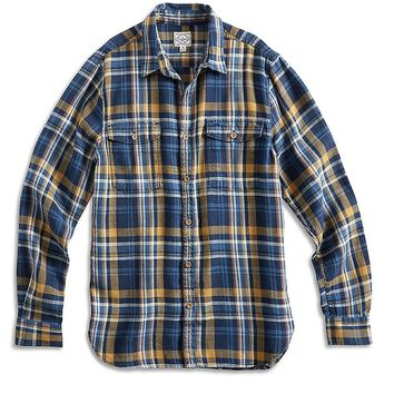 Lucky Brand Elm Indigo Workwear Shirt Mens - Blue/Gold