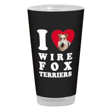 Tree-Free Greetings PG04142 I Heart Wire Fox Terriers Artful Alehouse Pint Glass, 16-Ounce