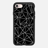 Abstraction Outline Black and White #2 iPhone 7 Case by Project M | Casetify