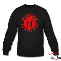 Russian Torch Relay crewneck sweatshirt