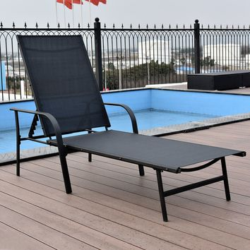 Pool Chaise Lounge Chair Recliner Patio Furniture With Adjustable Back New