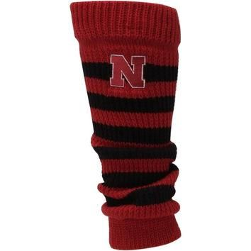 Nebraska Cornhuskers adidas Women's Striped Leg Warmer