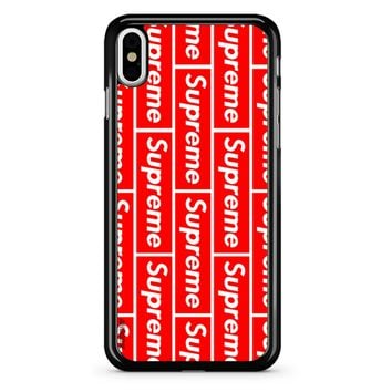 Supreme Logo 2 iPhone X Case