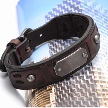 Grant Hathaway Genuine Italian Leather Bracelet