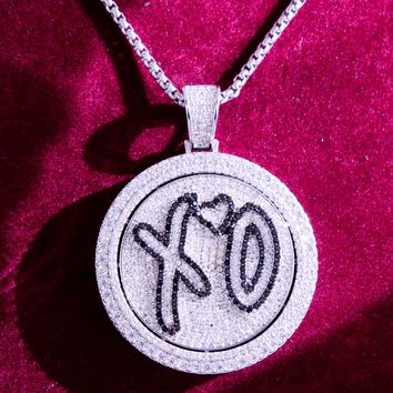 New Men's XO Love Hip Hop Spinner Circle Pendant