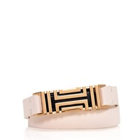 Tory Burch Tory Burch For Fitbit Fret Double-wrap Bracelet