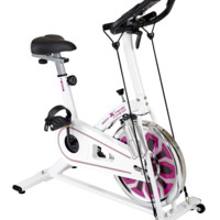 Body Xtreme Fitness Exercise Bike, Pulse Sensors, Resistance Bands, Water Bottle