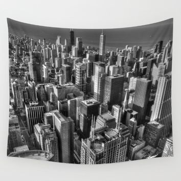 Chicago Wall Tapestry by Claude Gariepy