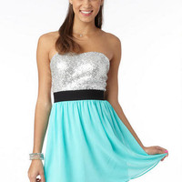 Strapless Sequin Party