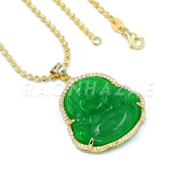 6dc159438a0e0 Shop Green Jade Pendant Gold on Wanelo