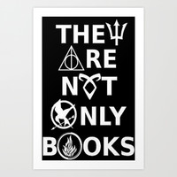 They Are Not Only Books (inverted) Art Print by phantastique