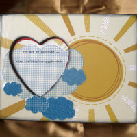 You Are My Sunshine Decorative Picture Frame sun by ScrappyDoodads