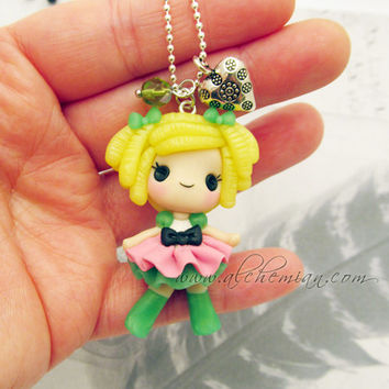 Cute doll inspired necklace