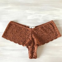 Sasha Cheeky Knickers in Rust