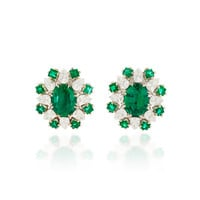 Verde Oval Clip Earrings | Moda Operandi