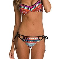Sexy Women's Bikini Set Swimwear Bandeau Push-Up Padded Bra Swimsuit Beachwear