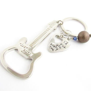 I'd Pick You Guitar Keychain & Bottle Opener