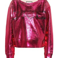 Metallic cotton sweatshirt