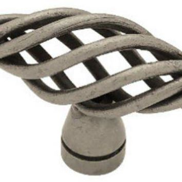"Liberty PN0528-AP-C Small Birdcage Oval Knob, 2"", Pewter"