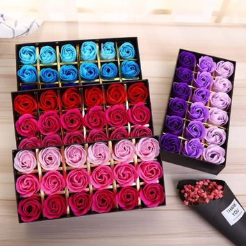 18pcs,Scented Soap, Rose flower Essential Oil Set with Gift Box , Gifts