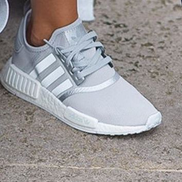 Adidas NMD R1 Boost Fashion Casual Running Sports Silver/Gray Sneakers G