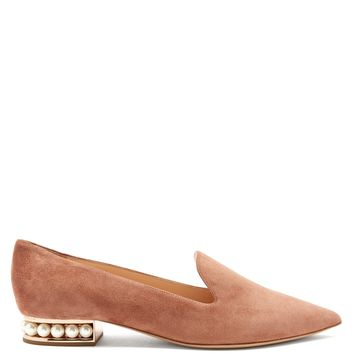 Casati pearl-heeled suede loafers | Nicholas Kirkwood | MATCHESFASHION.COM UK