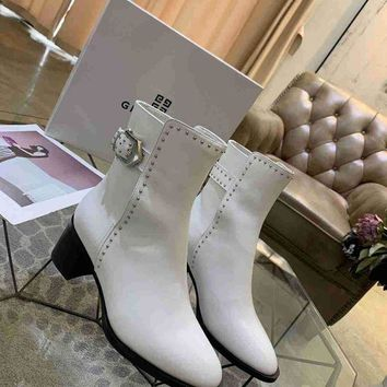 DCCK Givenchy  Women Casual Shoes Boots fashionable casual leather Women Heels Sandal Shoes