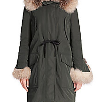 Moncler - Verteuil Fur-Trimmed Jacket - Saks Fifth Avenue Mobile