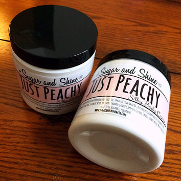 Just Peachy- Silky Body Cream/Body Butter/Body Lotion/ Vegan and Cruelty Free/2oz/4oz/8oz