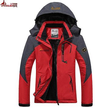 UNCO&BOROR Winter women Men Down Parka Jacket coat men`s Hooded Thick Warm Outwear Waterproof Windproof Overcoat size L~5XL,6XL