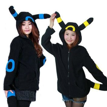 Adult Animal Sweatshirts  Hoodies Pocket Umbreon Jacket Christmas Cosplay Costume Tracksuits Zipper Gardigan Sweater TopsKawaii Pokemon go  AT_89_9