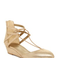 Kenneth Cole Reaction   Why Not Reptile-Embossed Wedge Lace Sandal   HauteLook