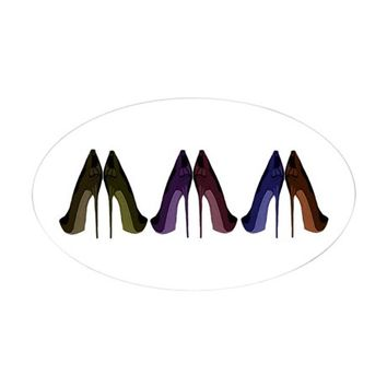 PRETTY SHOES ALL IN A ROW DECAL