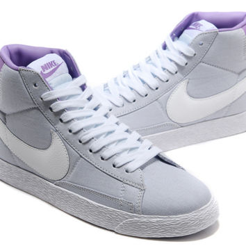 NIKE Women Men Running Sport Casual Shoes Sneakers high tops grey purple
