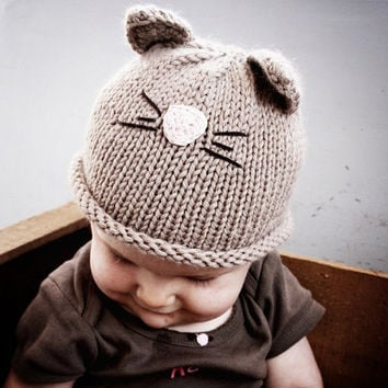 Cat Hat Newborn and 03M by beliz82 on Etsy