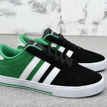 """Adidas Neo"" Men Sport Casual Fashion Multicolor Stripe Anti-fur Plate Shoes Sneakers"