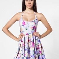 Floral Nylon Tricot Figure Skater Dress | Mini Sleeveless | Women's Dresses | American Apparel