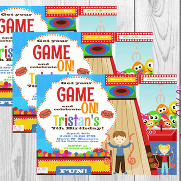Arcade Birthday Invitation/Arcade Party/Game Party/Games/Video Games/Party Printables/Digital/Fun Party/Arcade Games/Birthday