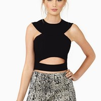 Nasty Gal Unleash Crop Top - Black