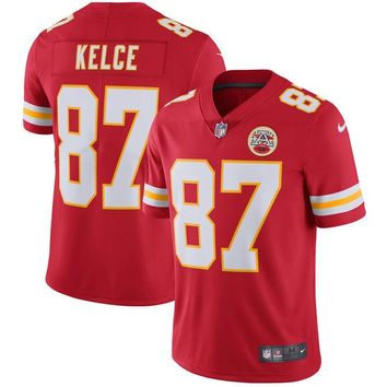 Youth Kansas City Chiefs Travis Kelce Nike Red Vapor Untouchable Limited Player Jersey