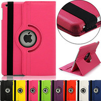 """360 Degree Rotating 100% PU Leather Covered Include Back Case Full Body Case for IPad Air 1 Air 2 IPad Pro 9.7"""""""