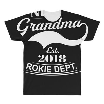 New Grandma 2018 Rokie Dept. All Over Men's T-shirt