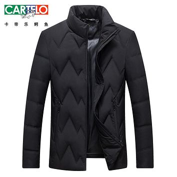 Cartelo/Brand Winter New Down Jacket Winter New Light Warm Down Jacket Clothing Collar Male 90% White Duck Down Coat For Male