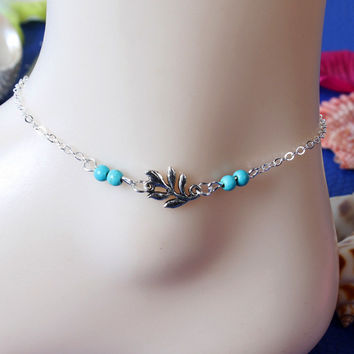 Jewelry Cute Shiny Gift New Arrival Sexy Accessory Stylish Simple Design Leaf Tassels Ladies Anklet [8080504967]