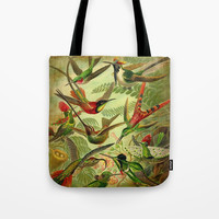 HUMMINGBIRD COLLAGE Tote Bag by Digital Effects